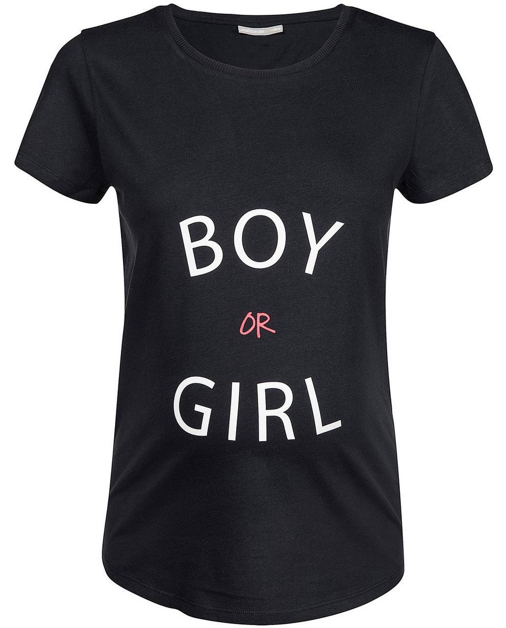 T-Shirts - Navy - T-Shirt mit Aufschrift